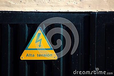 Warning sign high voltage