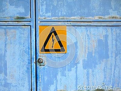 Warning sign: High voltage