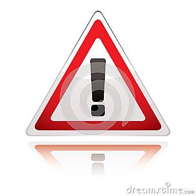 Free Warning Sign Icon Uk Exclamation Royalty Free Stock Image - 14218806