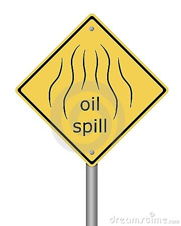 Warning Sign Oil Spil