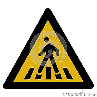 Warning sign - pedestrian