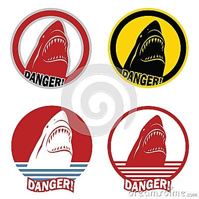 Warning sign of shark attack