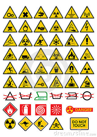 Free Warning Signs Royalty Free Stock Images - 2770089