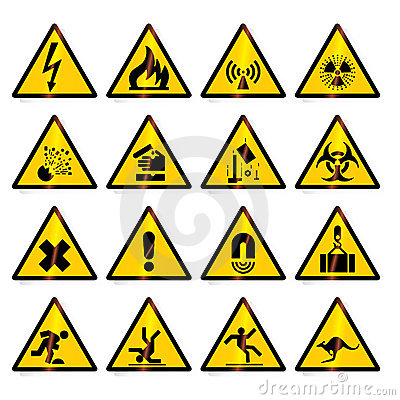 Free Warning Signs Royalty Free Stock Images - 2960189