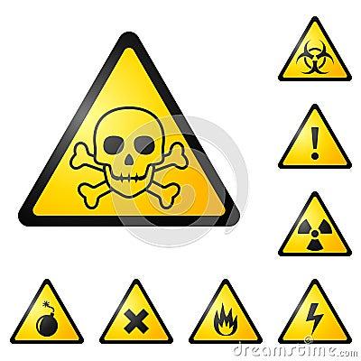 Free Warning Signs / Symbols / Icons Stock Photography - 15488042
