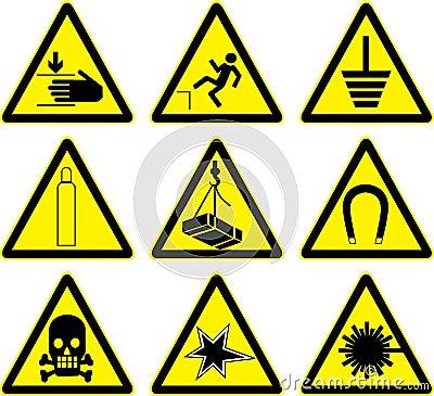 Warning signs  work.