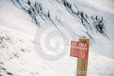 Warning Ski Area Boundary