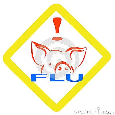 Warning swine flu sign