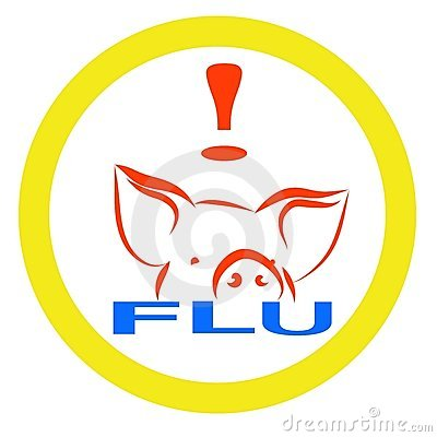 Warning swine flu sign