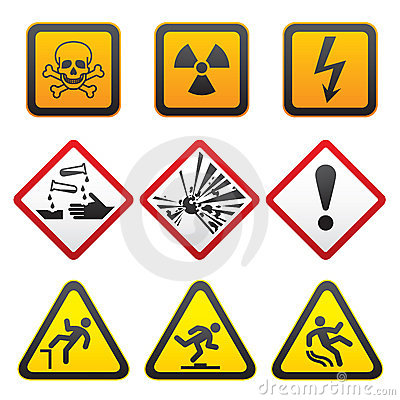 Warning symbols - Hazard Signs-First set