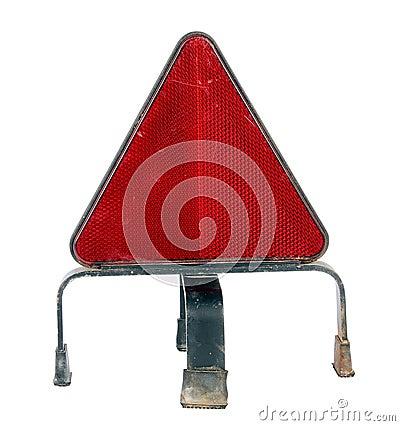 Warning traffic accident sing