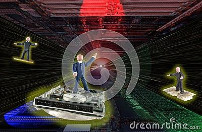 Warp drive in electronics universe