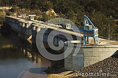 Warragamba Dam in New South Wales, Australia.