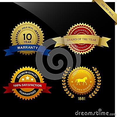Warranty Guarantee Seal Ribbon Award