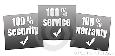 Warranty, service, security