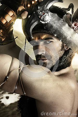 Warrior in action