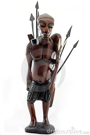Warrior from Gambia Africa