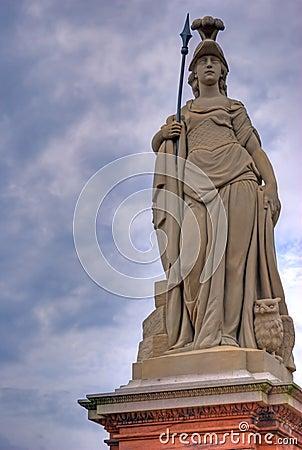 Free Warrior Goddess Athena Statue Stock Photography - 11014992