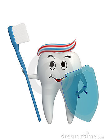 Warrior healthy tooth icon isolated