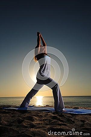 Warrior I (Virabhadrasana I) yoga pose