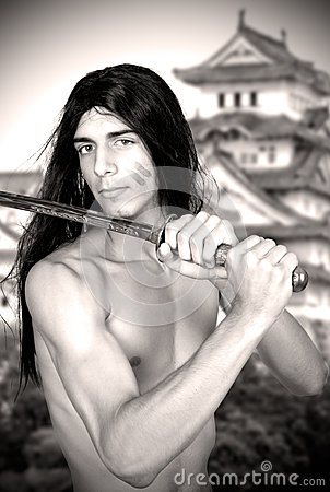 Warrior with katana