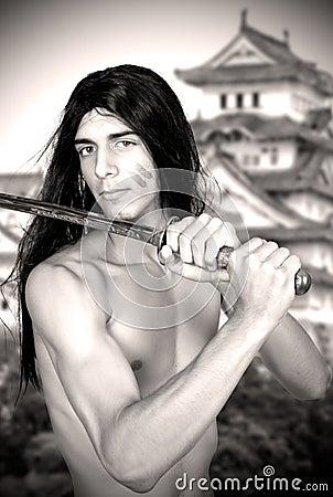 Warrior with katana