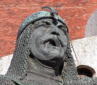 Warrior statue -detail