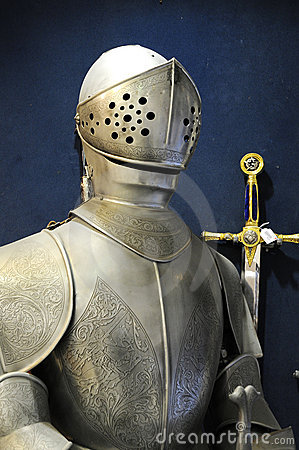 Free Warrior With Iron Armor Royalty Free Stock Images - 9757689