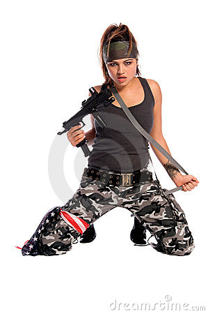 Free Warrior Woman Royalty Free Stock Image - 1148036