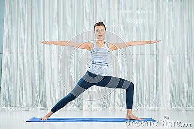 Warrior yoga asana