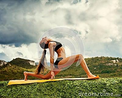 Warrior yoga pose