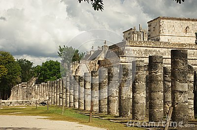 The warriors  temple in Chichen Itza, Mexico