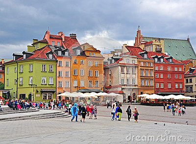 Warsaw city centre, Poland Editorial Photography