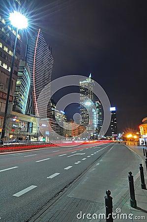 Warsaw city night life