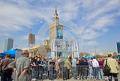 Warsaw greeting eurocup 2012 Editorial Stock Image