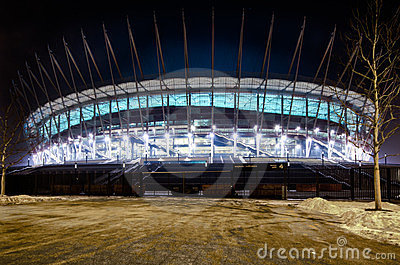 Warsaw new National Stadium, Poland Editorial Photography
