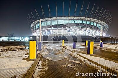 Warsaw new National Stadium, Poland Editorial Photo