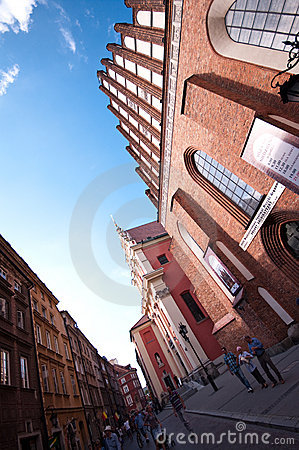 Warsaw Poland - old town Editorial Stock Photo