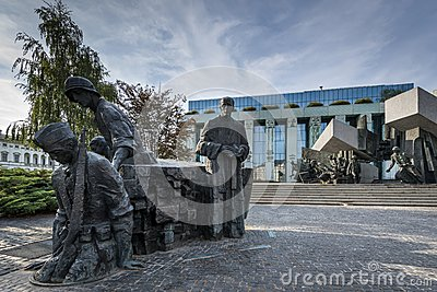 Warsaw Uprising Monument in Warsaw, Poland Editorial Stock Photo
