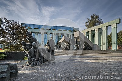 Warsaw Uprising Monument in Warsaw, Poland Editorial Photo