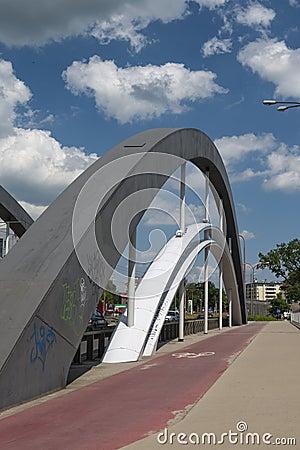 Warszawa mosty w Wrocławskim Fotografia Editorial