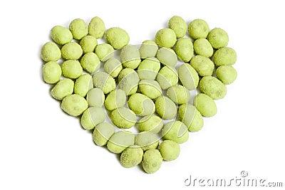 Wasabi peanut heart