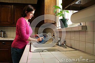Waschende Teller