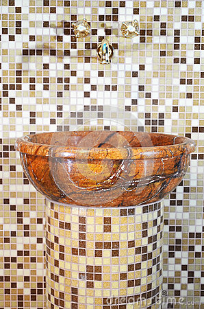 Wash basin made of stone
