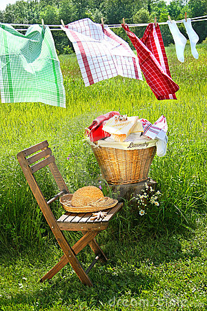 Free Wash Day For Dish Towels Royalty Free Stock Photography - 5848667