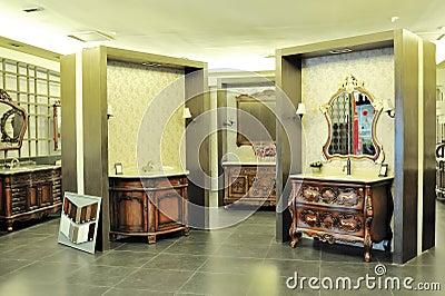 Washbasins show Editorial Stock Image