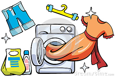 Washer and clean clothes