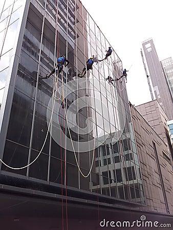 Washing building facade Editorial Stock Photo