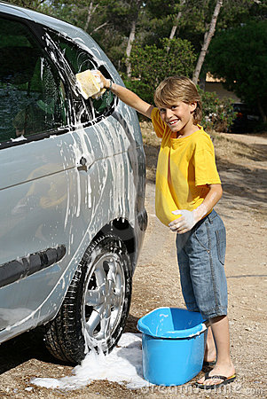 Free Washing Car Royalty Free Stock Images - 868129