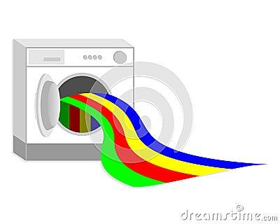 Washing colors